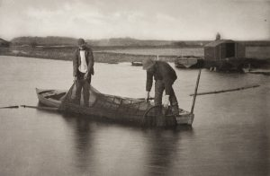 Fyke nets used to catch eels in 1886, England