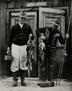 Illinois fishermen with bluegill, 1918