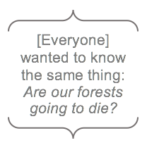 """Are our forests going to die?"""
