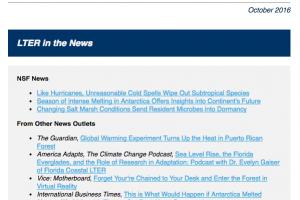 LTER science update newsletter