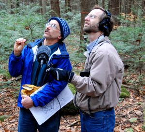 Ecologist Julian Hadley Speaks To NPR Reporter About Carbon Sequestration. Credit: Harvard Forest LTER