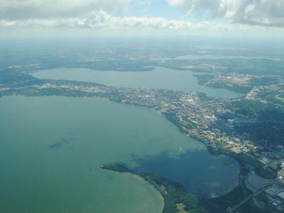 aerial of Yahara watershed in Wisconsin