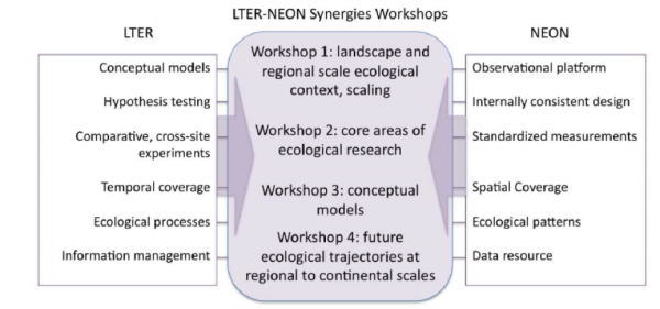 Potential synergies of the LTER and NEON Networks. Credit: Peter Groffman.