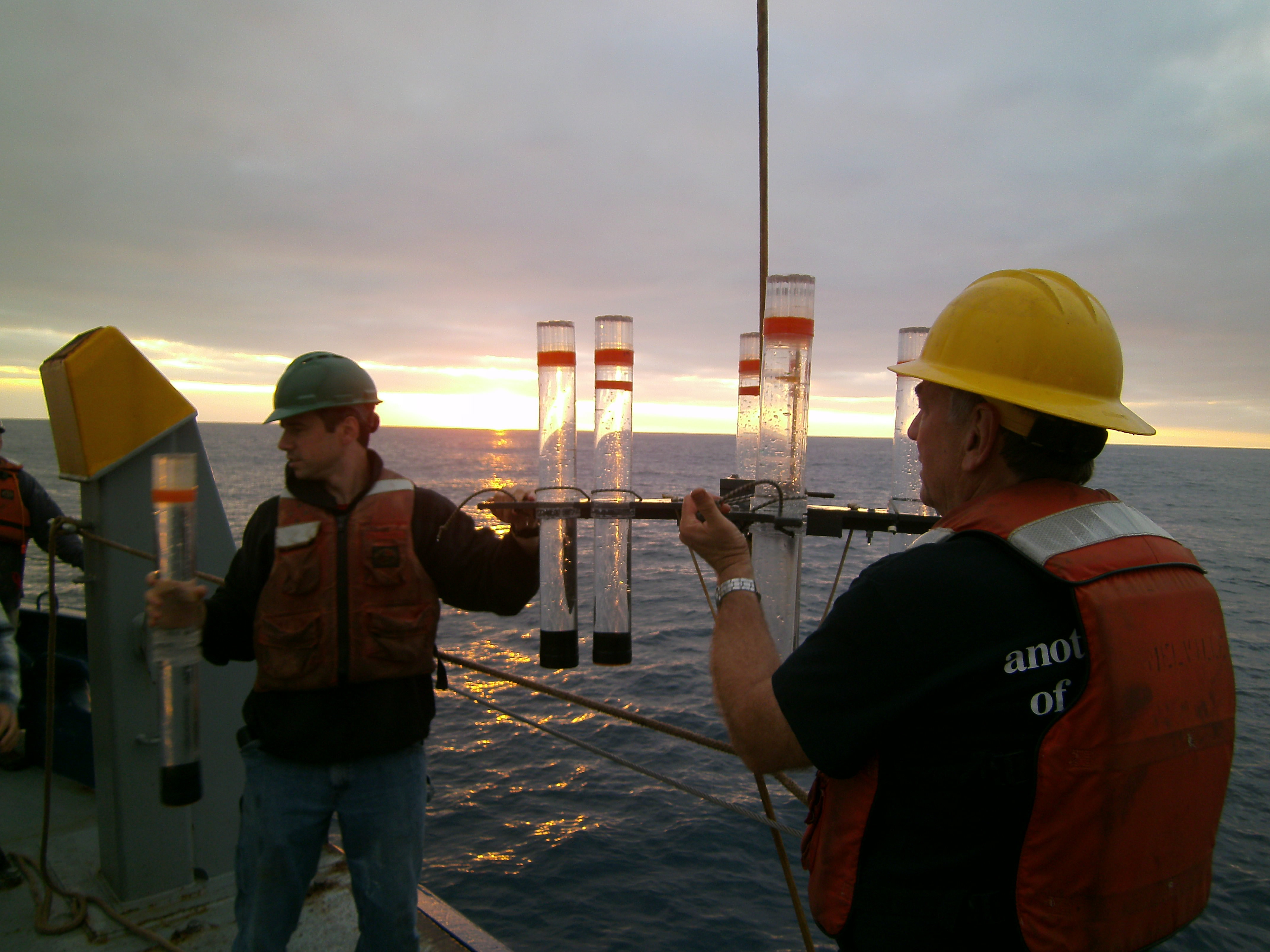 CCE researchers test for sequestered carbon in the deep ocean.