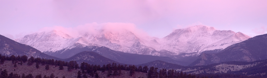Dawn Light over the Rocky Mountains