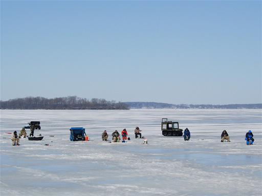 sampling on lake ice