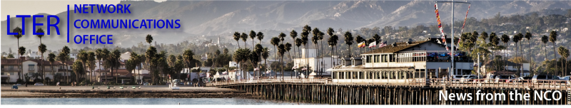 Santa Barbara shoreline and wharf header