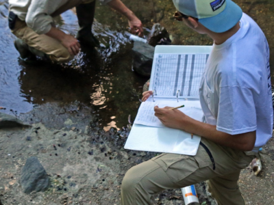 Nate Vandiver has now experienced fieldwork first-hand, a memory he can take to his environmental studies courses in college.