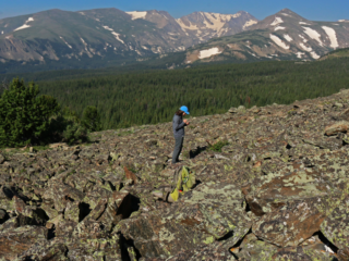 Ashley Whipple studies pika in the Colorado mountains.