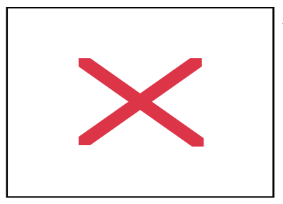 red x, as displayed with unfound images.