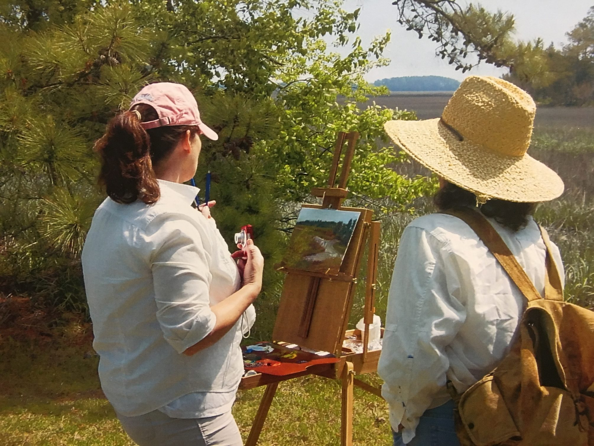 Painter at Virginia Coast Reserve LTER. Photo: Cora Ann Johnston