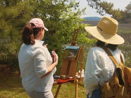 Painter at Virginia Coast Reserve LTER. Photo: Cora Ann Johnston