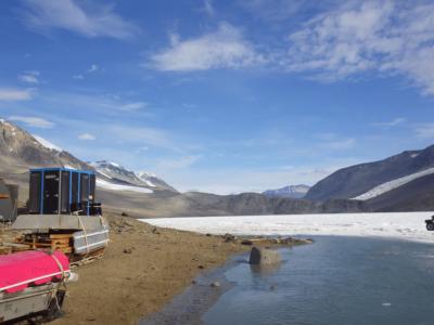 Lake Bonney Camp, Antarctica. Steve Chignell, 2016.