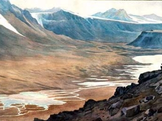 Wright Valley by Alan Campbell, NSF Antarctic Artists & Writers Fellow (1988, 1989, 1993, 2005)