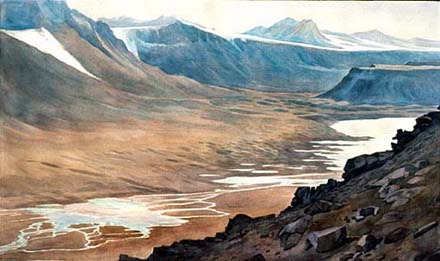 Wright Valley by Alan Campbell, NSF Antarctic Artists and Writers Fellow (1988,1989, 1993, 2005)