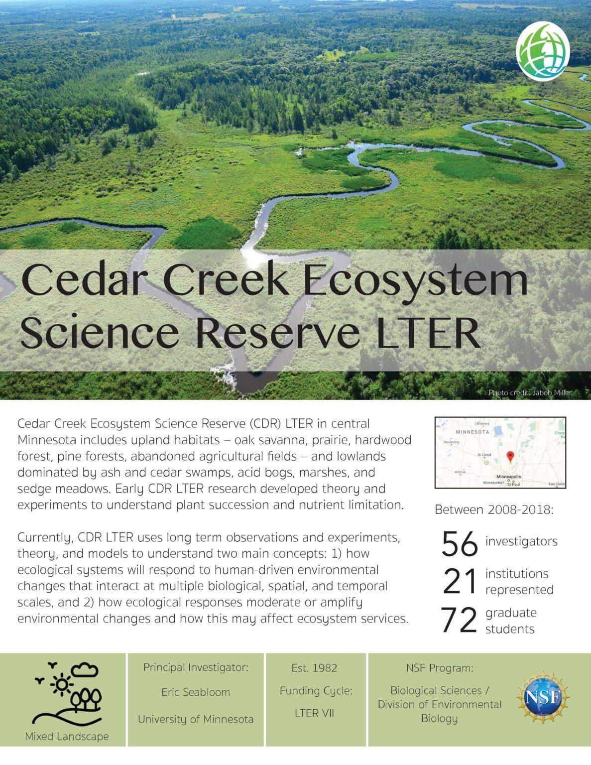 Cedar Creek LTER site brief 2019