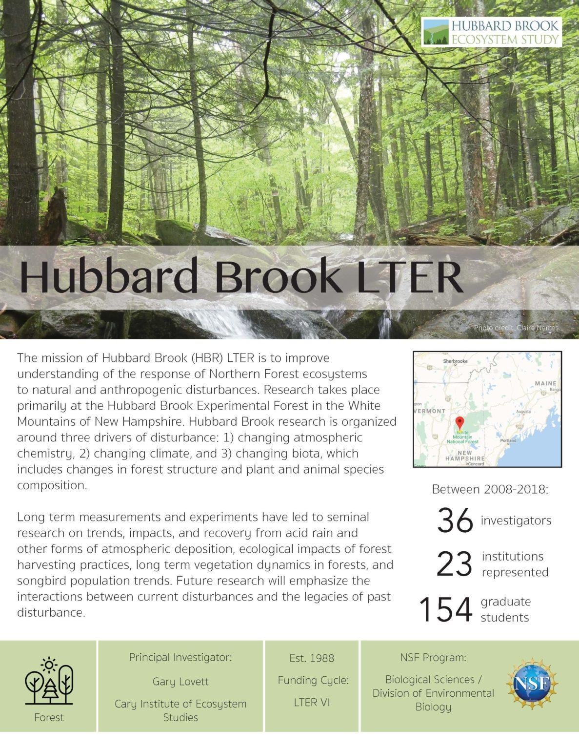 Hubbard Brook LTER site brief 2019