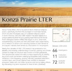 Konza Prairie LTER site brief 2019