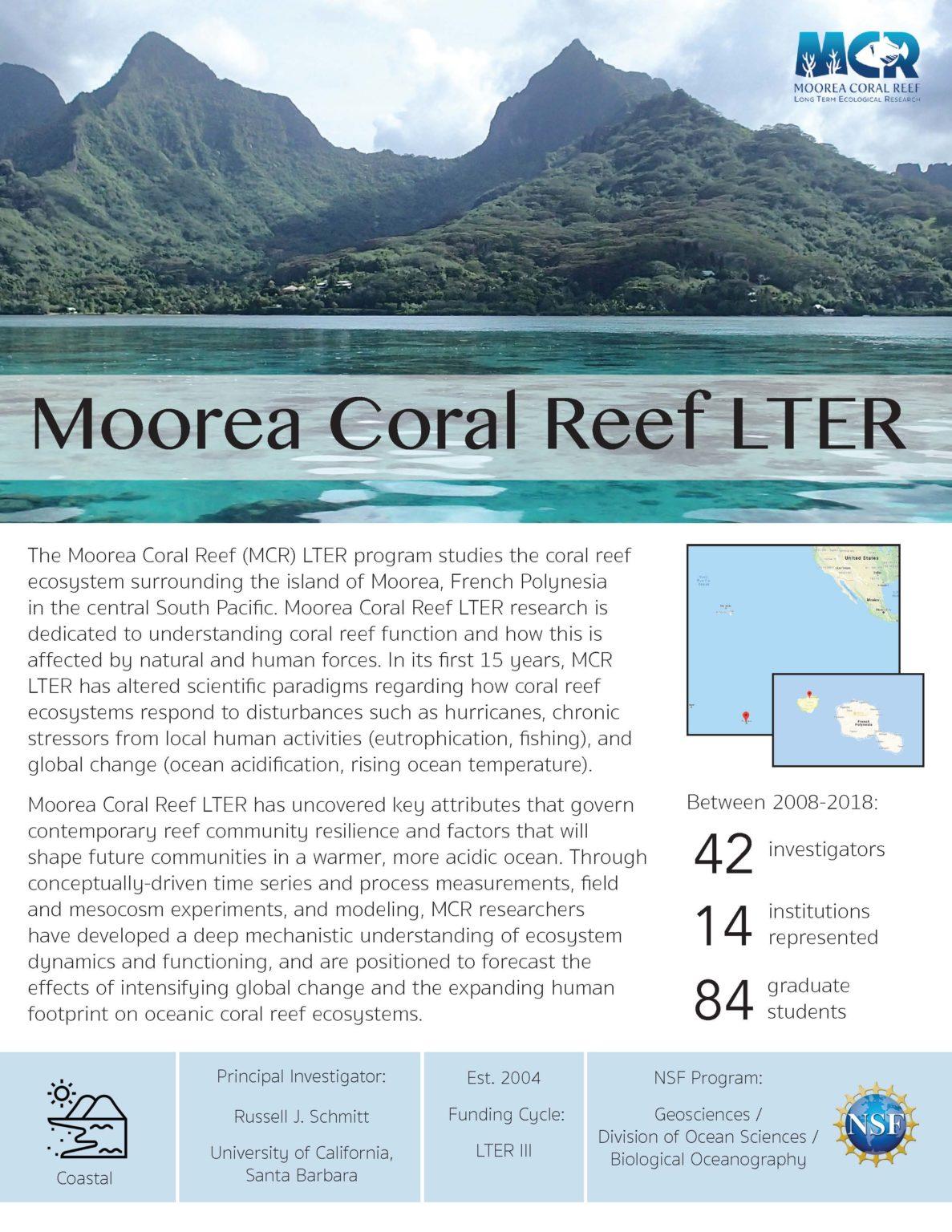 Moorea Coral Reef LTER site brief 2019
