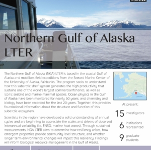Northern Gulf of Alaska LTER site brief 2019