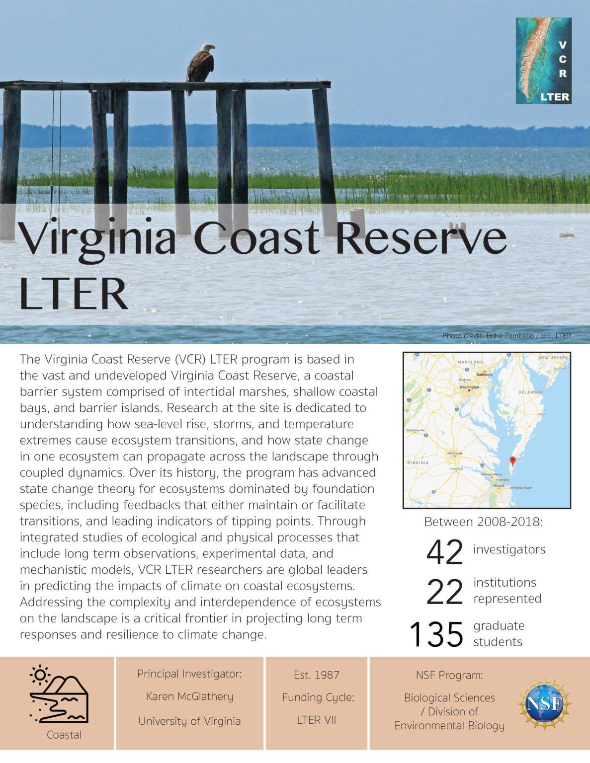 Virginia Coast Reserve LTER site brief 2019