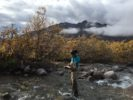 Streams LTER Research Assistant Frances Iannucci (a coauthor on the study) recording dissolved oxygen in a watershed associated with the Arctic LTER.